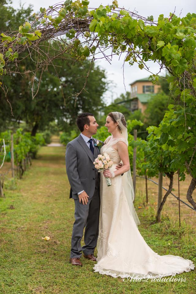 Oak Valley Vineyard Wedding Portrait