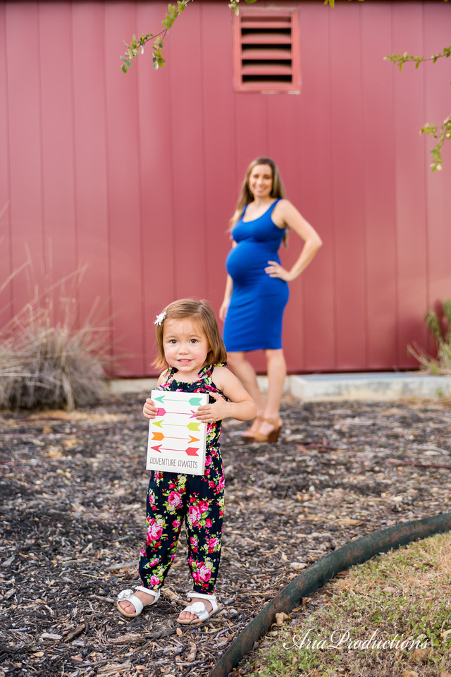 18 month old maternity shoot