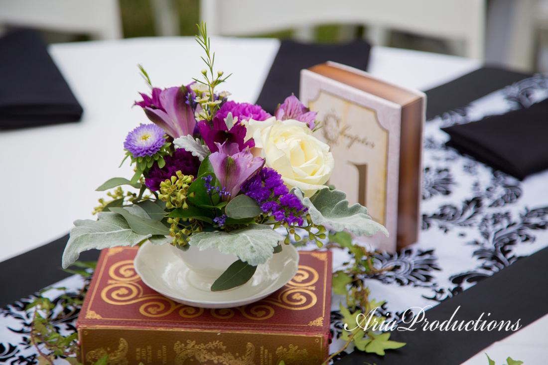 Teacup floral arrangement