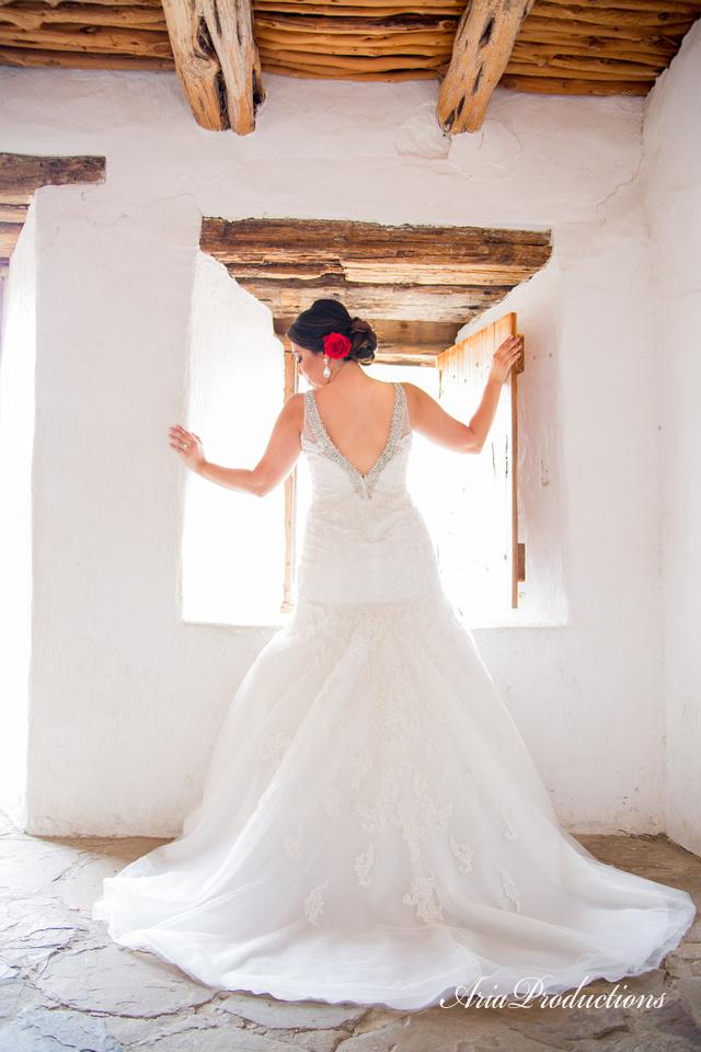 Backlit bride