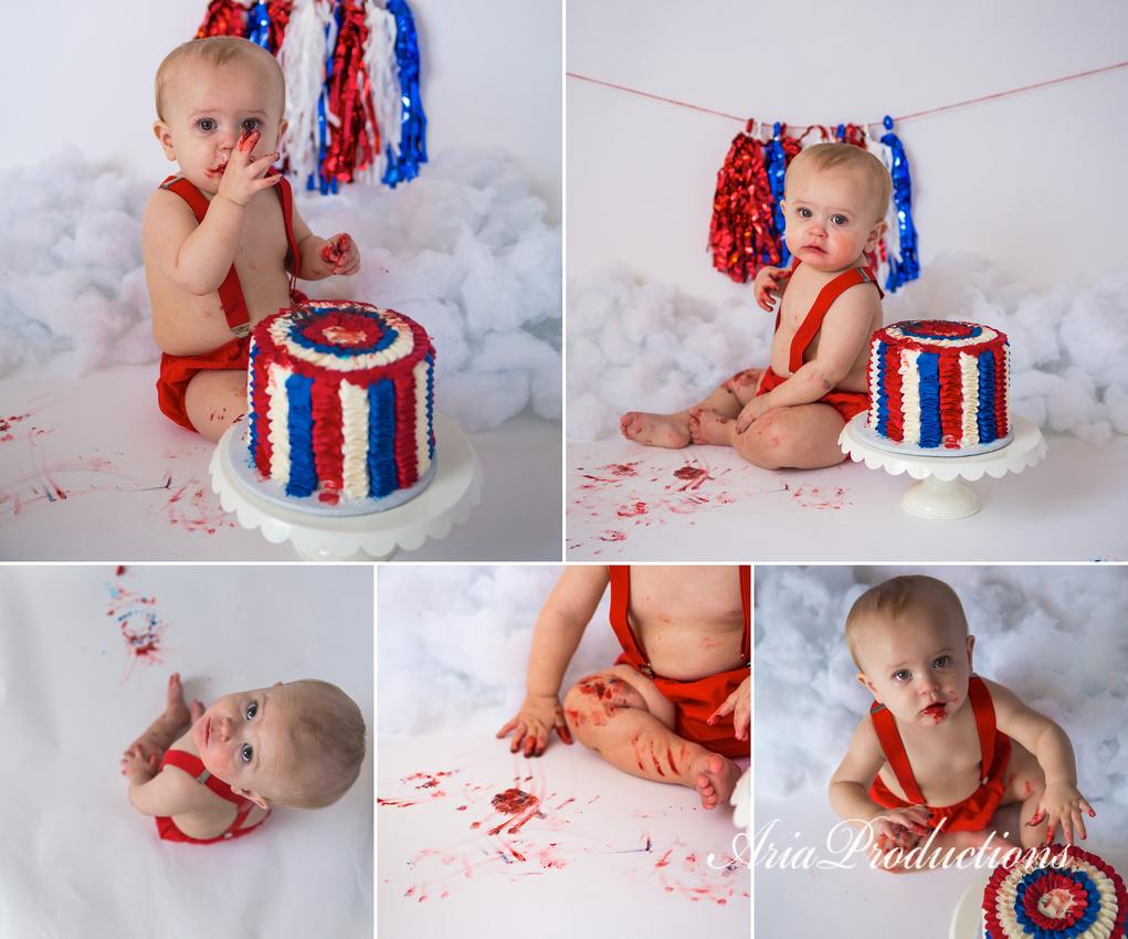 cake smash collage 1