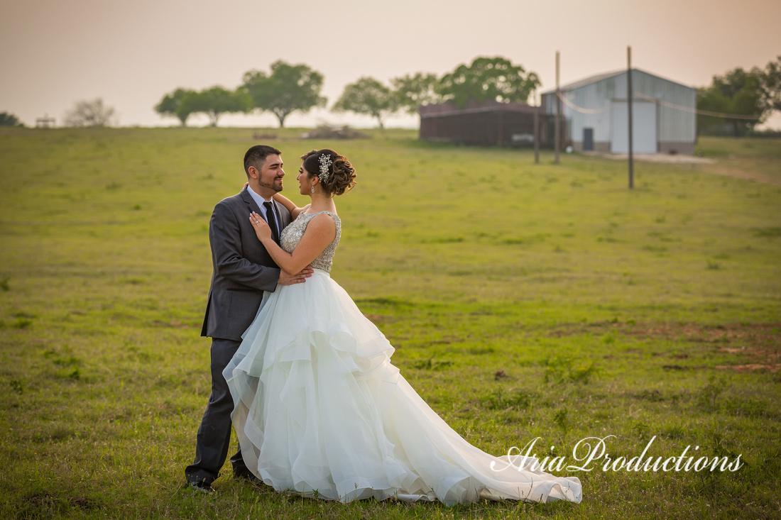 Bride and Groom Texas Ranch Wedding