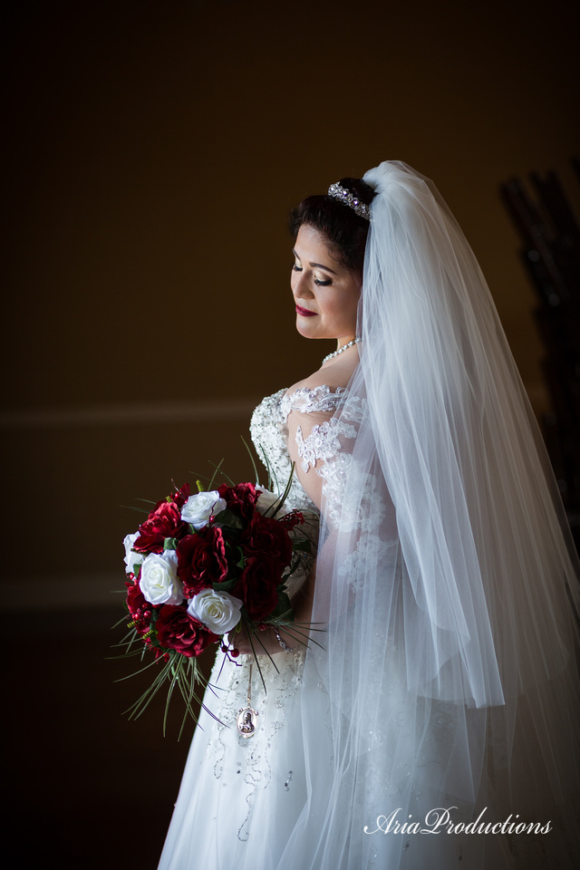 Side lit bridal portraits