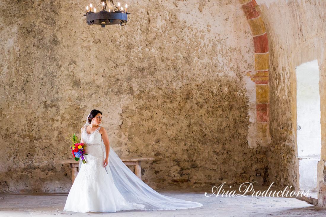Aria Productions A Bridal Portrait At Mission San Jose San