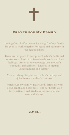 prayer for my family