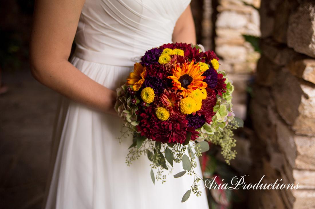 Fall bridal bouquet.