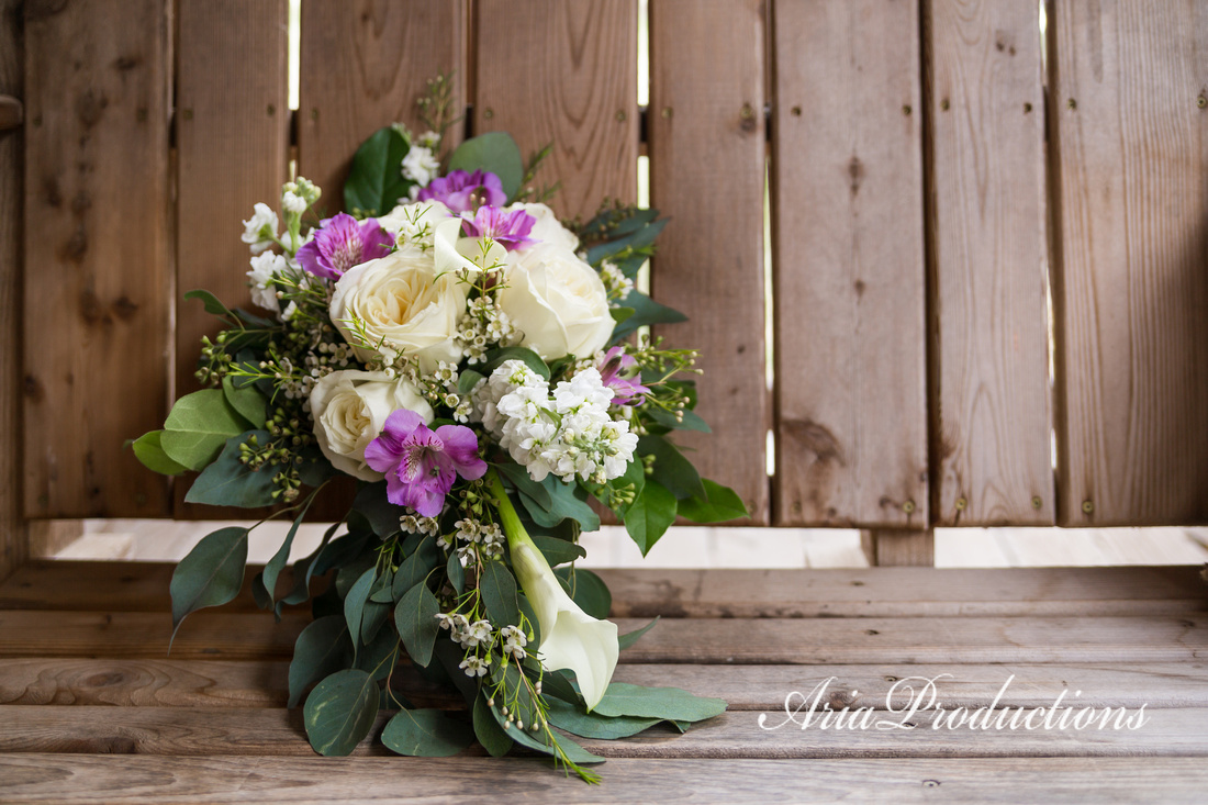 Cascading bridal bouquet.
